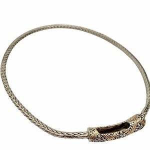 NEW Silver & Gold Rope Link Necklace Premier Design Jewelry